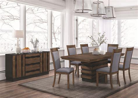 octavia walnut wood dining collection las vegas