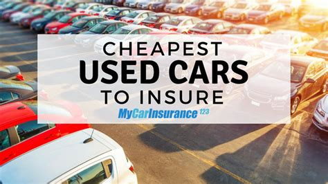 Cars With Cheapest Insurance Rates by Cheapest Used Cars To Insure 2019 Guide