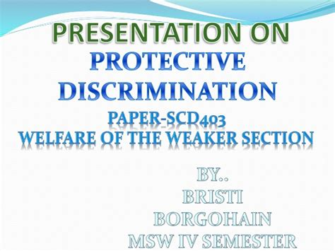 vulnerable sections of society presentation on protective discrimination