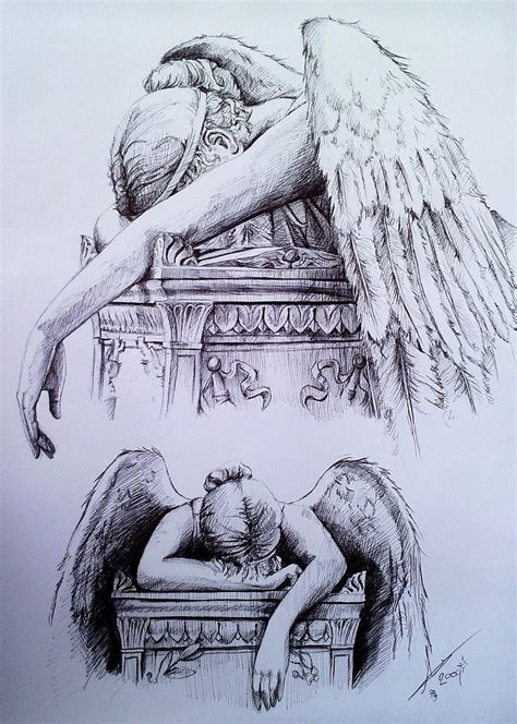 tattoo angel of grief statue tattoo drawing related keywords suggestions
