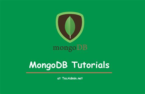docker mongodb tutorial mongodb database tutorial tecadmin