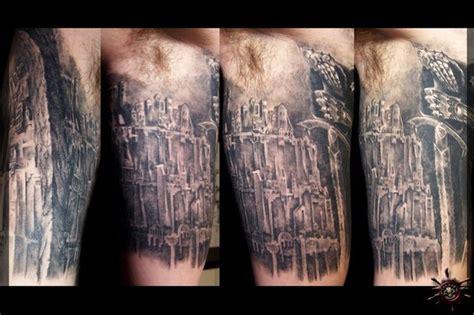 tattoo new minas minas tirith the white city by caesar tattoonow