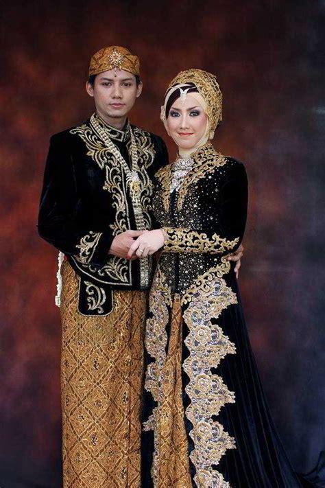 10 model kebaya pengantin khas jawa muslim beludru dan