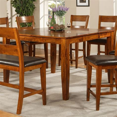 bar height table legs steve silver mango counter height table with tapered legs