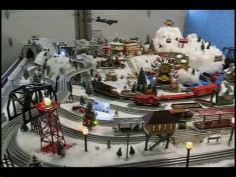 lionel christmas train layouts