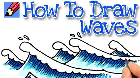 how to draw simple arrow wave how to draw waves real easy