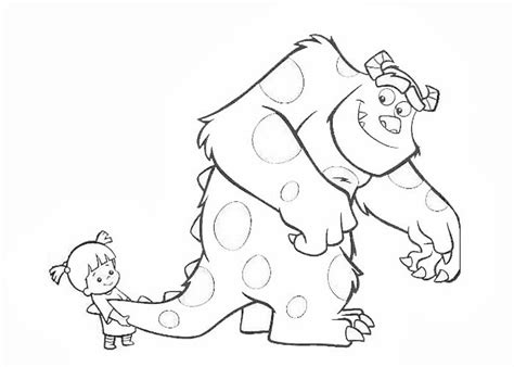 sully y boo coloring pages coloring pages