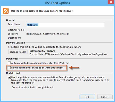 Speed Read Feed For April 9 2007 how to articles lined to rss feeds in outlook