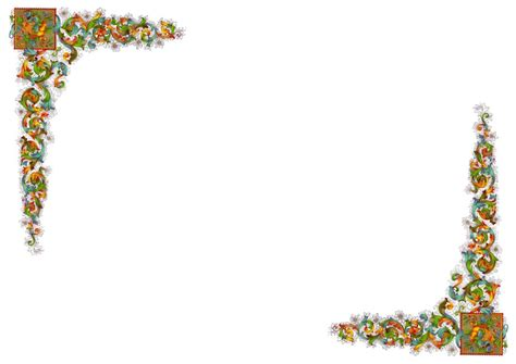 cornici a4 fogli decorati da stare gratis