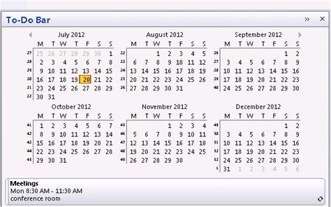 I Need To See A Calendar Using Outlook S Calendar Peek