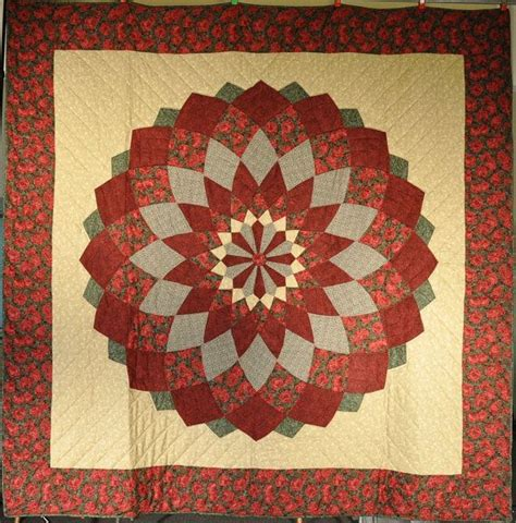 Beautiful Handmade Quilts - beautiful amish handmade quilt green dalia 107
