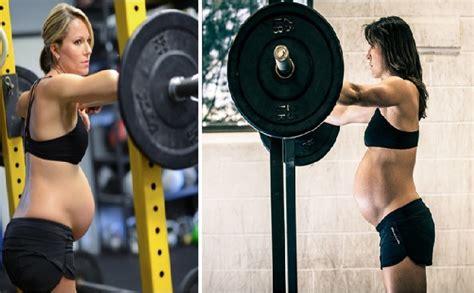 imágenes mujeres fitness 161 17 mujeres que fueron al gym aun estando embarazadas