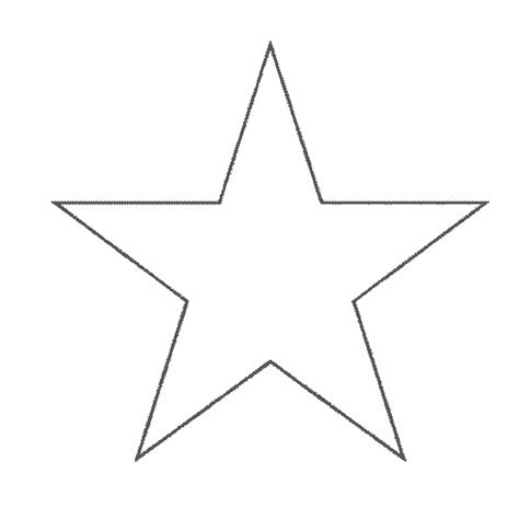 shape star coloring page