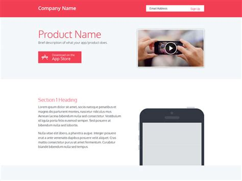 free html product page template 25 free landing page html templates templatemag