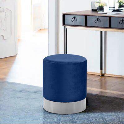 blue ottomans poufs youll love   wayfair