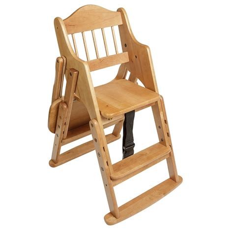 Collapsible High Chair by Safetots Folding Wooden High Chair Wood Safetots