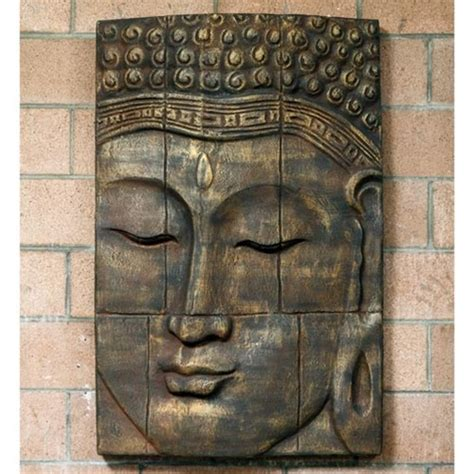 buddhist decor large relief buddha face wall decor