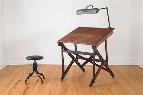 Collapsible Drafting Table Keuffel And Esser Co New York Industrial Folding Drafting Table By Homestead Eclectic