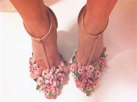 diy flower shoes diy embellished heels pretty for handy hints