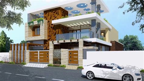 top modern home front elevation  home front