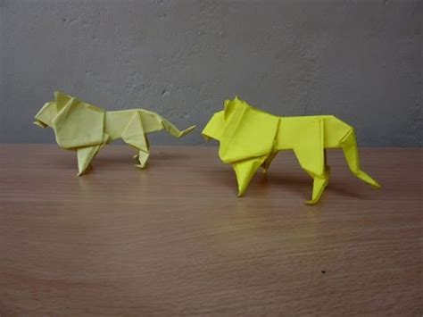 tutorial origami lion how to make a paper lion easy tutorials youtube