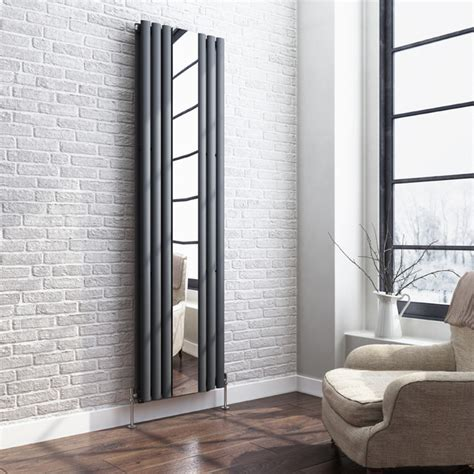 designer living room radiators mirrored anthracite radiator modern living room other by soak