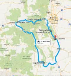 waterfalls in map the ultimate colorado waterfalls road trip