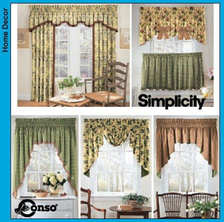 Window Treatment Patterns by Free Printable Valance Sewing Patterns Simplicity Window