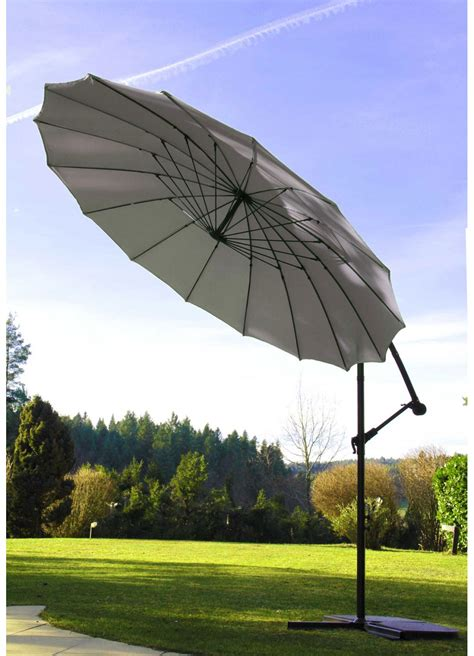 Parasol Rond Inclinable by Parasol D 233 Port 233 Et Inclinable Rond 216 3m Perle