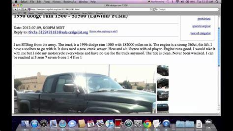 craigslist lawton oklahoma  cars  trucks  sale