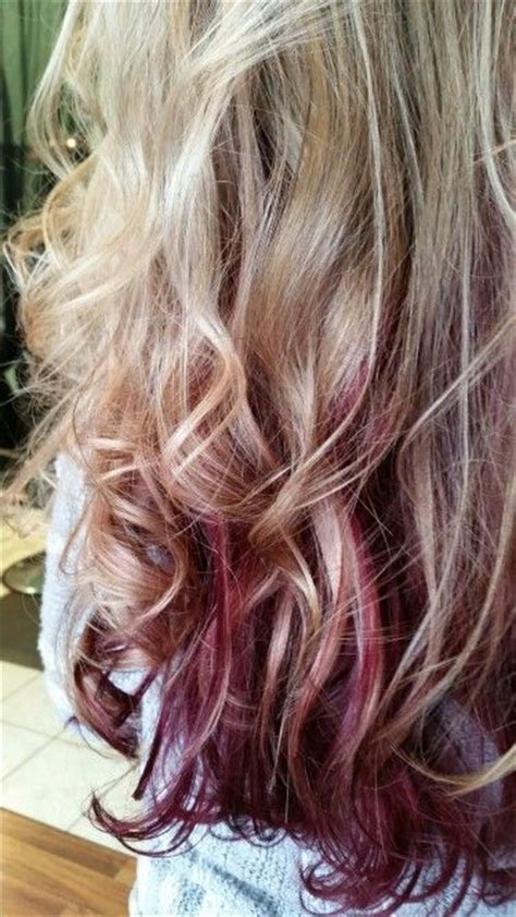 my hair under top layer is wacy 25 best ideas about burgundy blonde hair on pinterest