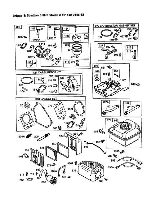 briggs stratton parts diagram diagram briggs and stratton parts diagram