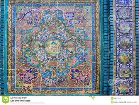 Painting On Ceramic Tile Craft by Ceramic Tiles With Traditional Persian Patterns Stock Photo Image 54272053