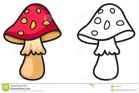 clipart bianco e nero funghi variopinti ed in bianco e nero per il libro da