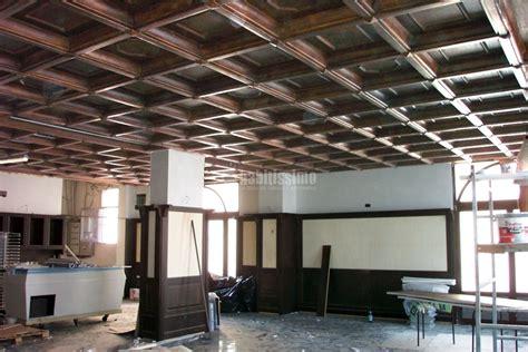 soffitto cassettoni legno progetto costruzione controsoffitto a cassettone ad