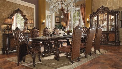 dining room furniture collection versailles dining set in cherry oak finish 9 piece set ebay