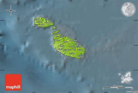 physical map of malta physical map of malta darken