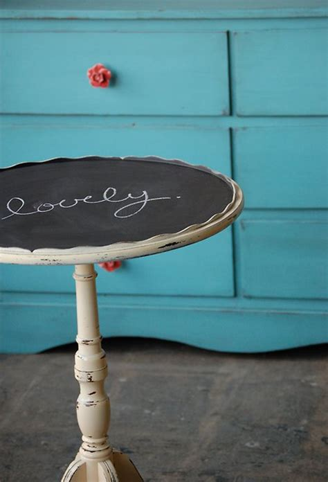 chalkboard paint end table side table with chalkboard paint the style files