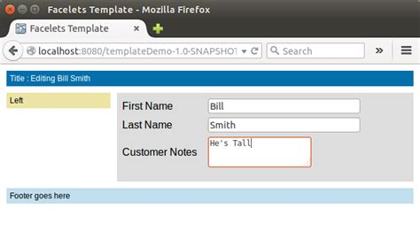 form layout jsf jsf page templates with facelets dzone java
