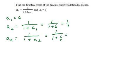 define recursive pattern in math write a recursive definition for each sequence
