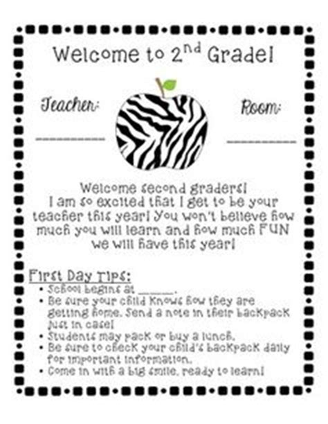 Parent Welcome Letter 2nd Grade 2nd Grade On 2nd Grades Multiplication Facts And Second Grade