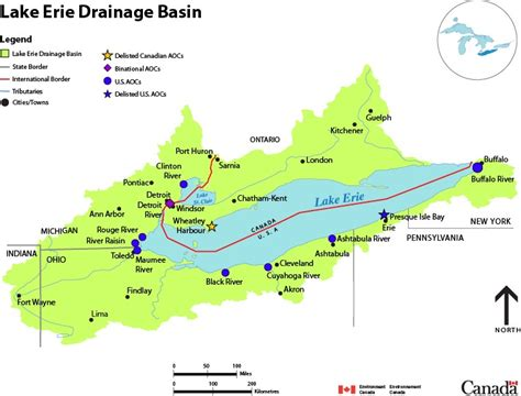 canada lakes map lake erie drainage basin map canada ca