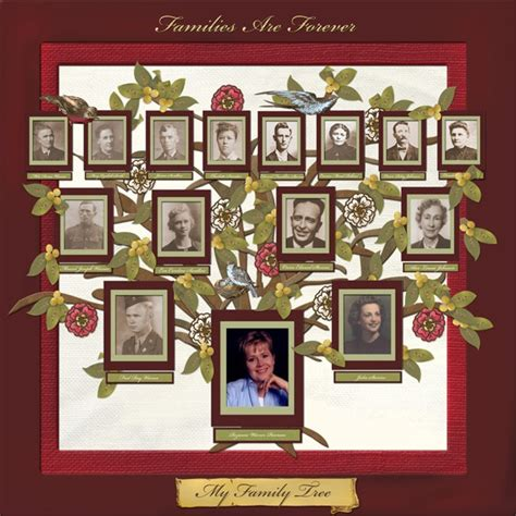 scrapbook layout family tree family tree scrapbook page ideas