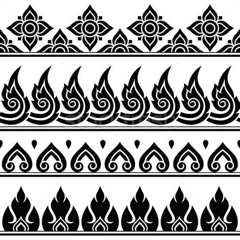 thai design seamless thai pattern repetitive design from thailand