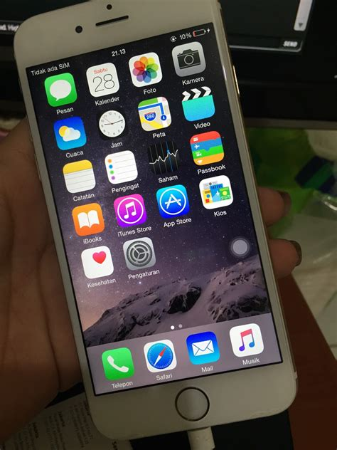 Iphone 6s 64 Gb Murah jual iphone 6 gold 64 gb murah bekas boomsalesecond