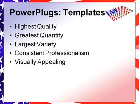 america powerpoint template american flag background for powerpoint