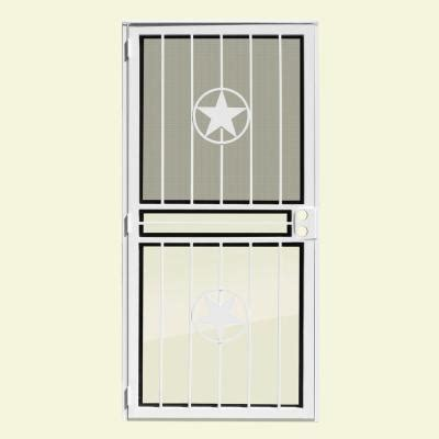 Outswing Door Security by Unique Home Designs Lone White Recessed Mount