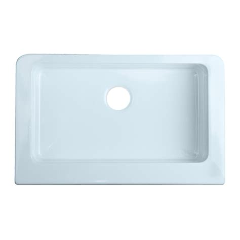 Acrylic Kitchen Sink Reviews Shop Corstone Single Basin Apron Front Farmhouse Acrylic Kitchen Sink At Lowes