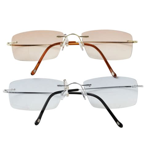 lightly tinted non prescription glasses yellowrock ultra light titanium bifocal reading