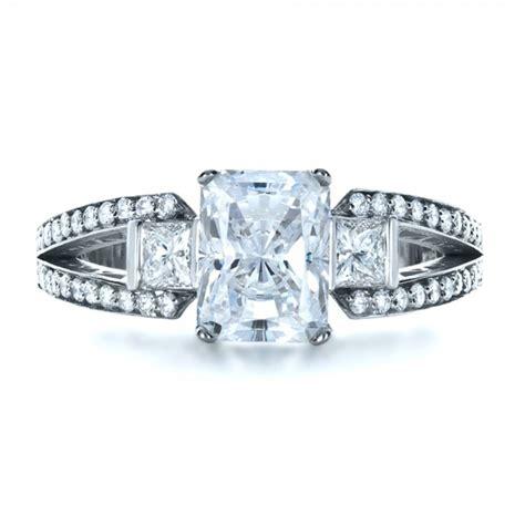 custom princess cut engagement ring 1208